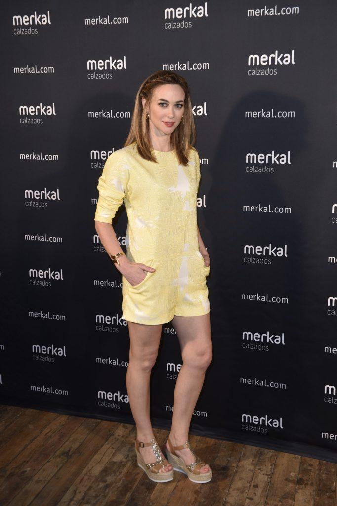 La actriz Marta Hazas durante un acto como imagen de la firma Merkal. 16/03/2016 Madrid