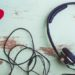 headphones symbol Valentine red heart