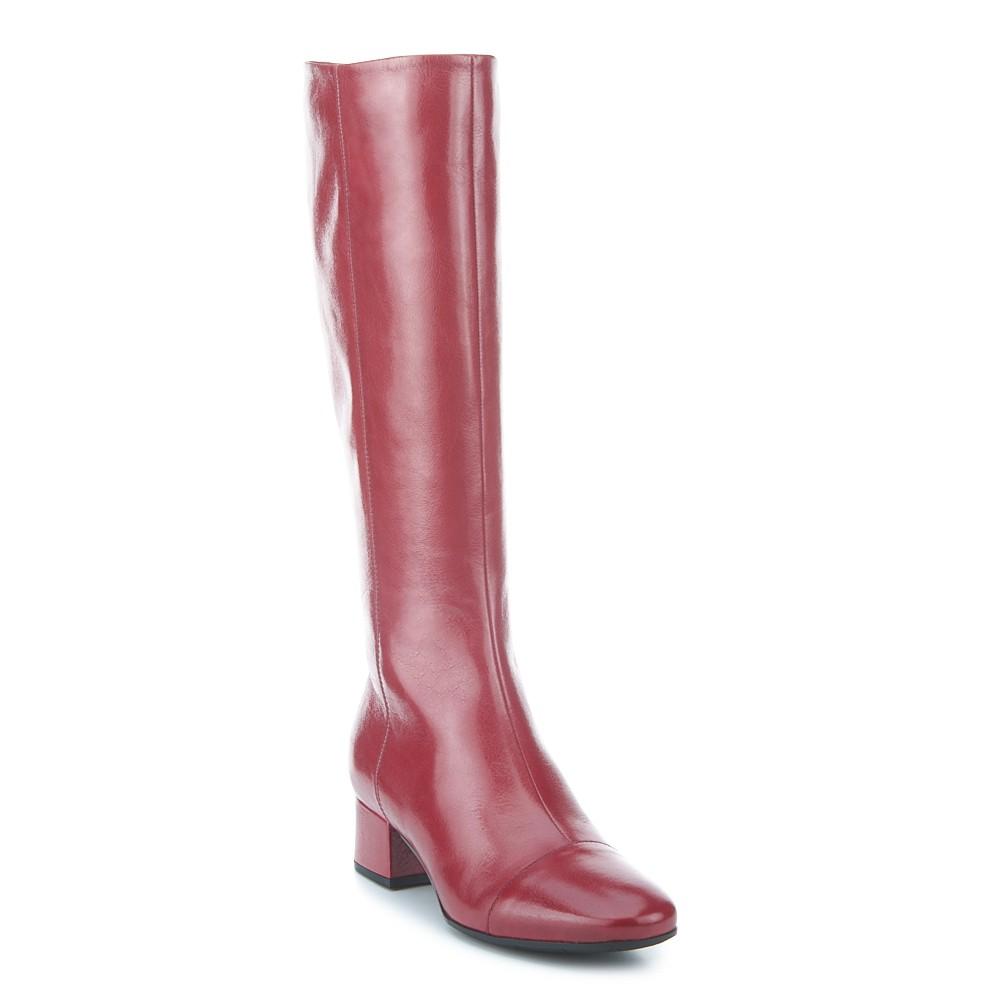 Bota de tacón de piel de FOSCO, la última tendencia Black & Red.