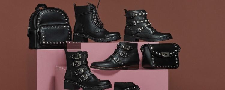 Zapatos y botas de estilo rockero.