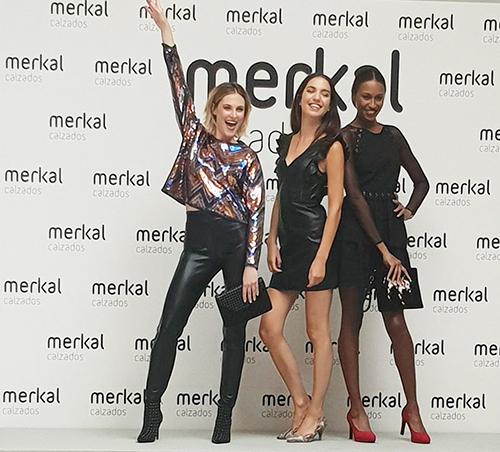 Un momento del 'live shooting' de Merkal Flash con algunos modelos de la colección de fiesta.