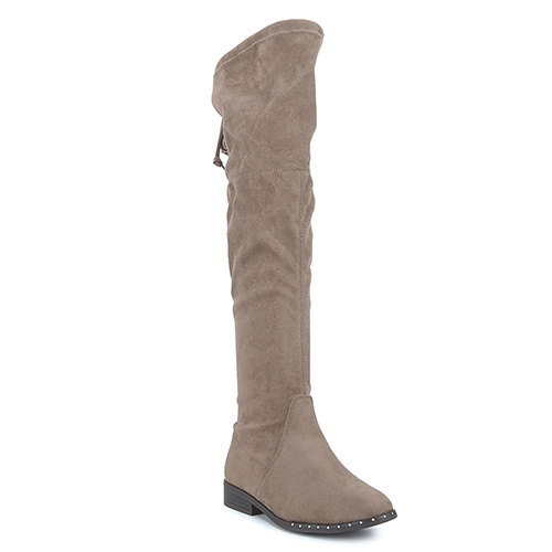 bota plana xl piccola color taupe