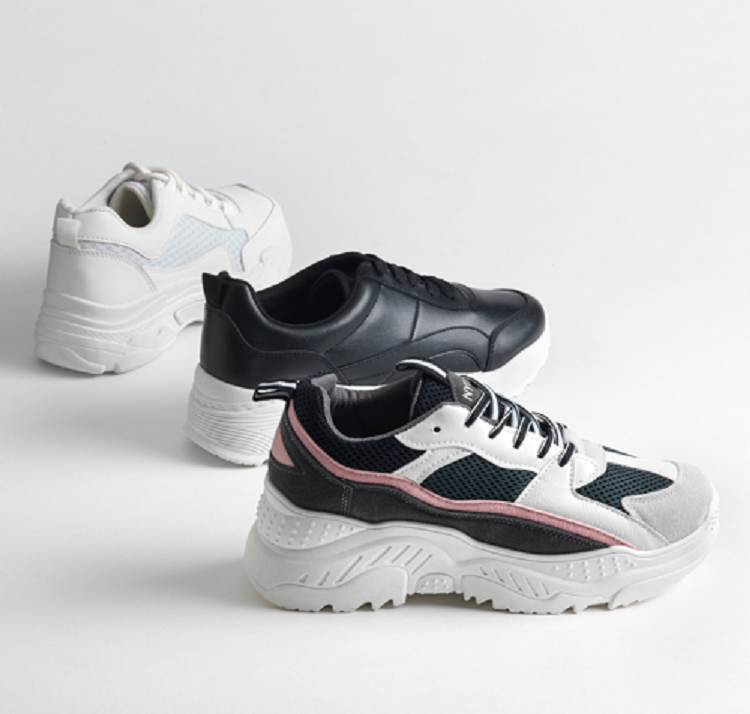 chunky sneakers 3 modelos de Merkal Calzados
