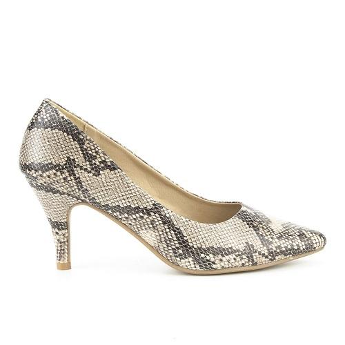 Zapato de salón estampado serpiente