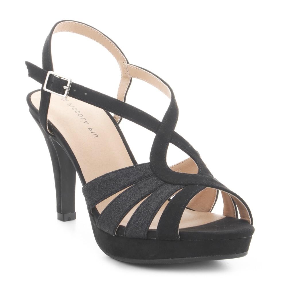 Sandalia de fiesta negra PICCOLA PIU.