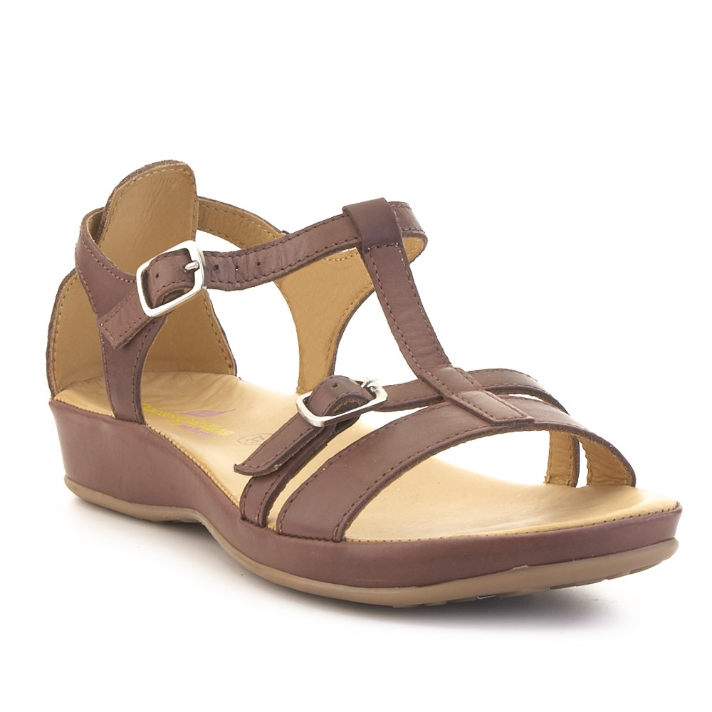 Sandalia plana confort.