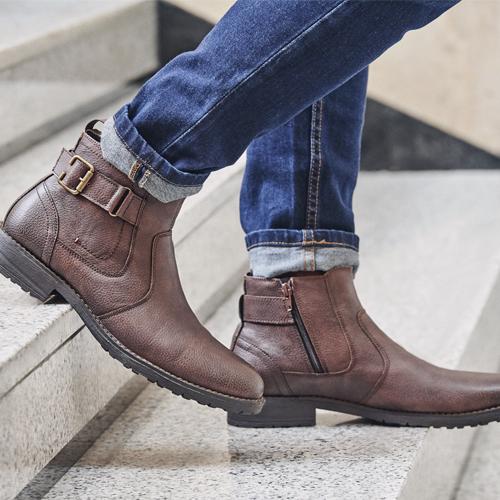 botín color marrón hombre