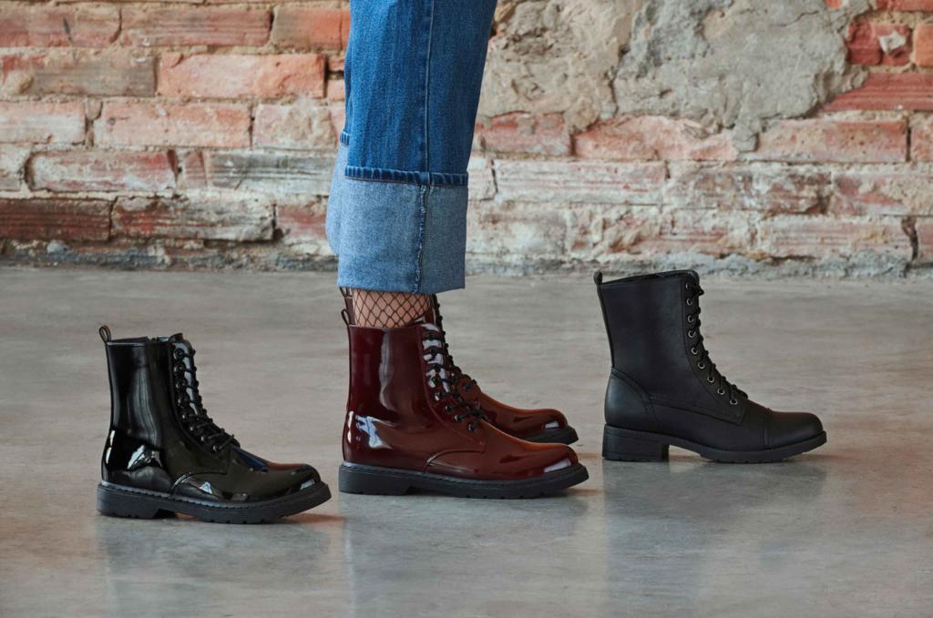 Colección de botines militares para mujer