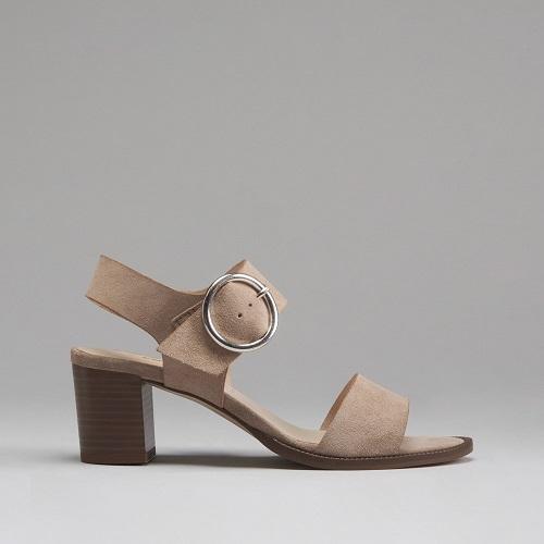 Sandalias de ante para mujer con hebilla de Fosco