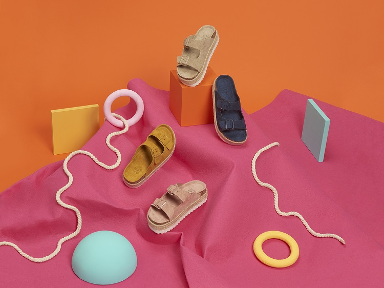 Sandalias de plataforma de colores