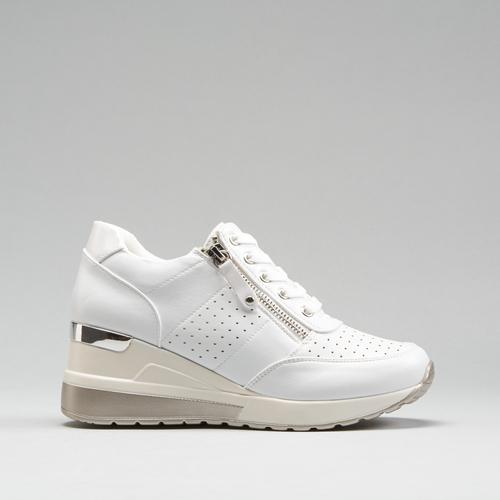 Sneakers blancas cuña PICCOLA PIU