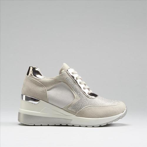 Sneakers metalizadas cuña PICCOLA PIU