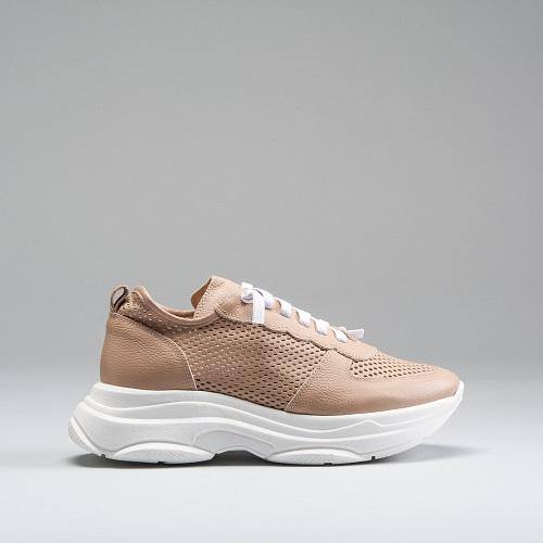 Chunky sneaker perforados piel FOSCO