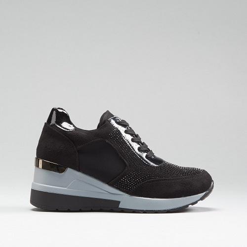 Sneaker cuña brillos PICCOLA PIU