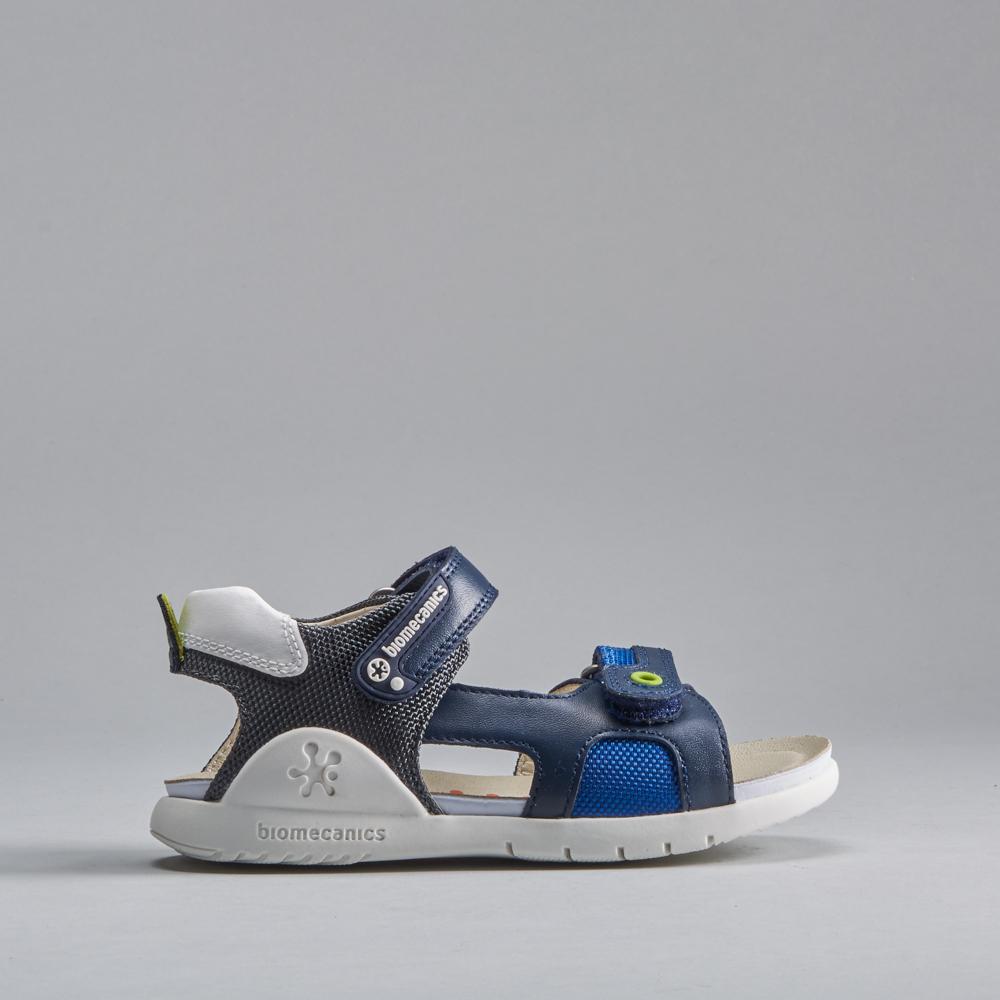 Sandalia azul marino piel BIOMECANICS