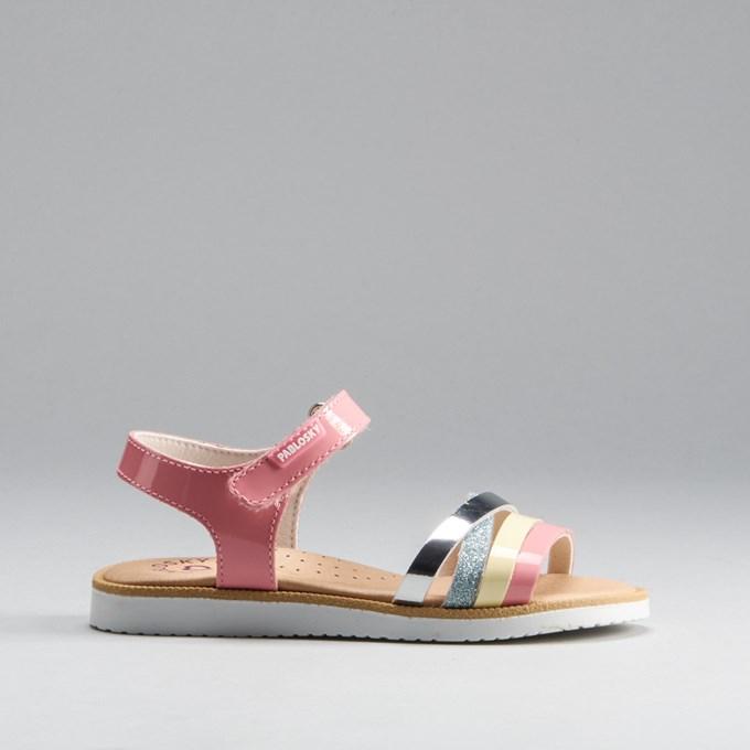 Sandalia tiras multicolor piel PABLOSKY
